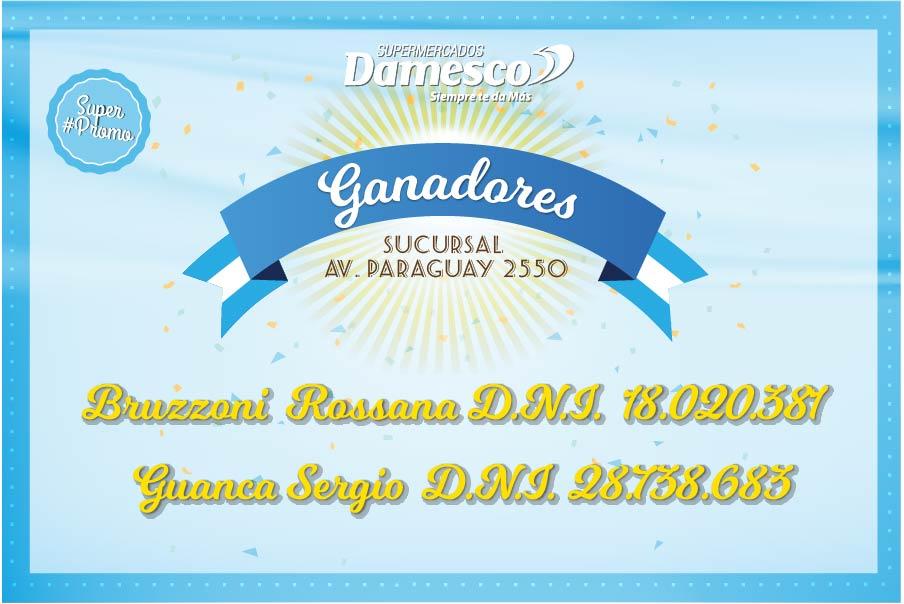 Ganadores Suc. Av. Paraguay 2550