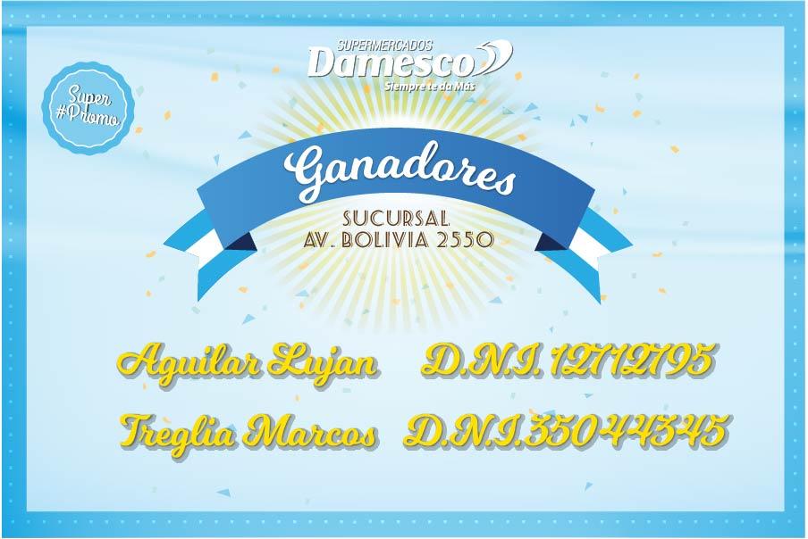 Ganadores Suc. Av. Bolivia 2550