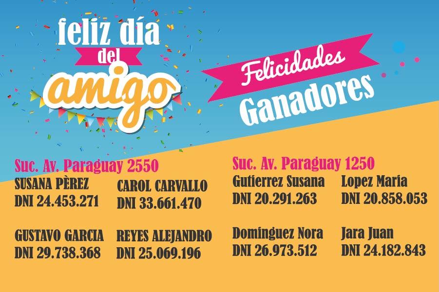 Ganadores Av. Paraguay 2550 y 1250