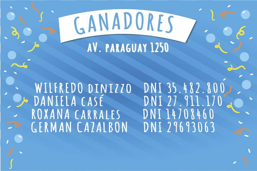 Ganadores Sucursal Av. Paraguay 1250