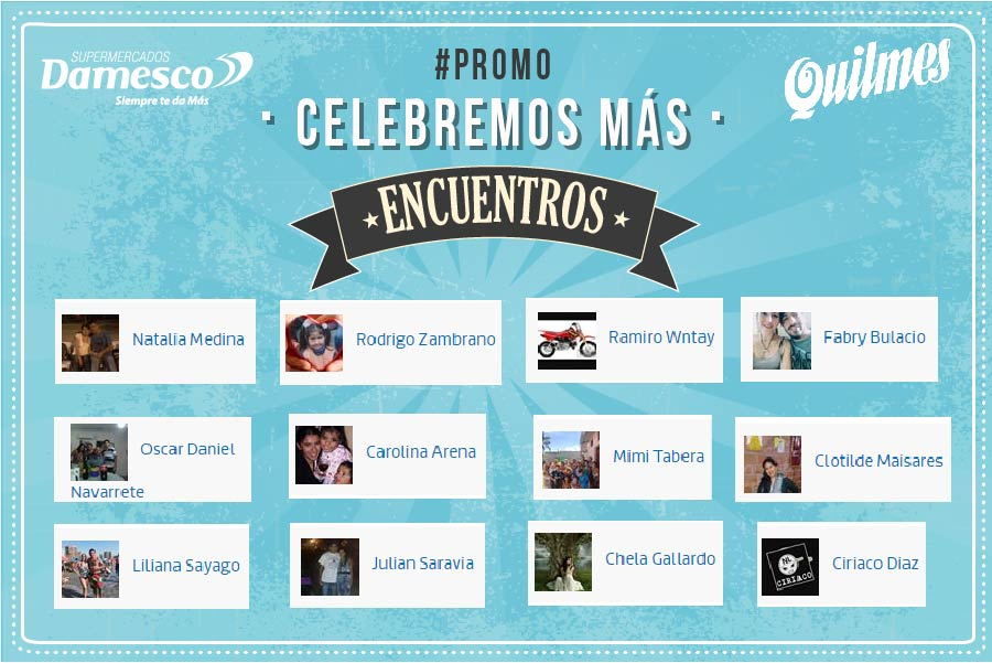 Ganadores Promo Quilmes
