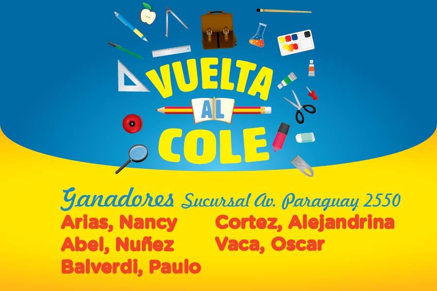 Ganadores sucursal Av. Paraguay 2550