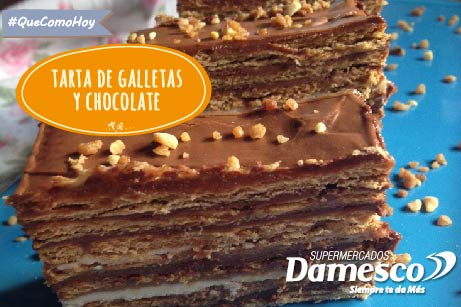 Tarta de galletas y chocolates