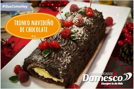 Tronco navideño de  chocolate