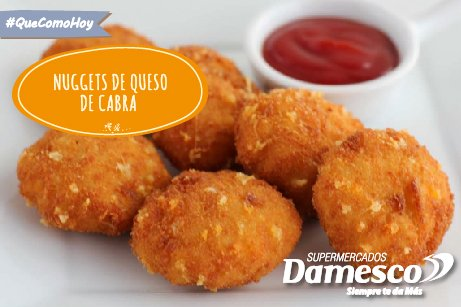 Nuggets de queso de cabra